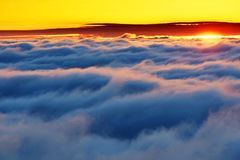 Alpine sea of clouds Royalty Free Stock Photography