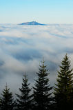 Alpine sea of clouds Stock Images