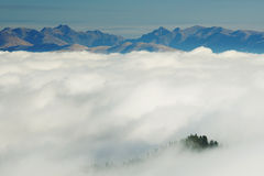 Alpine sea of clouds Stock Image