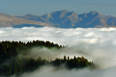 Alpine sea of clouds Stock Photography