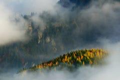 Alpine sea of clouds Stock Photo