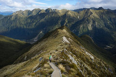An alpine section of the Kepler Track Stock Photo