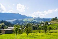 Alpine settlement in the Carpathians Royalty Free Stock Photo