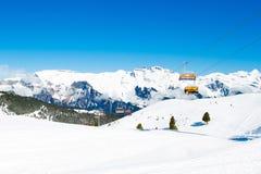 Alpine ski facility in Swiss Alps Stock Image