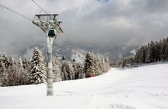 Alpine ski lift Royalty Free Stock Images
