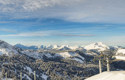 Alpine ski resort Royalty Free Stock Photography