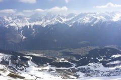 Alpine ski resort Serfaus Fiss Ladis in Austria. Royalty Free Stock Photos