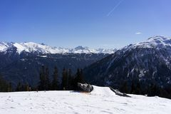 Alpine ski resort Serfaus Fiss Ladis in Austria. Royalty Free Stock Images