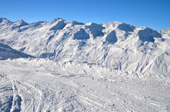 Alpine ski resort in Solden in Otztal Alps, Tirol, Austria Stock Photos