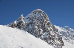 Alpine ski resort in Solden in Otztal Alps, Tirol, Austria Royalty Free Stock Images