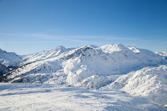 Alpine ski resort St. Anton Stock Photo