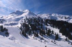 Alpine ski resort Royalty Free Stock Image