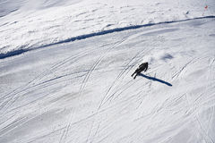 Alpine skier from above Stock Images