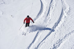 Alpine skier in cross park Austria Royalty Free Stock Photography