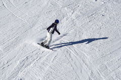 Alpine skier in cross park Austria Royalty Free Stock Image