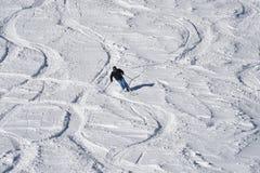Alpine skier in cross park Austria Stock Image