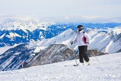 Alpine skier. Ski resort of Kaprun, Stock Photography
