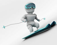 Alpine skiing Stock Photo