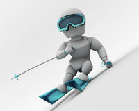 Alpine skiing Royalty Free Stock Photography