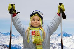 Alpine skiing Stock Images