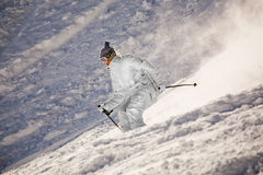 Alpine skiing Royalty Free Stock Photo