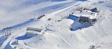Alpine skiing. Skiing in the Bavarian Alps Stock Photo