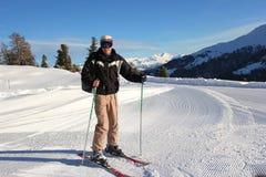 Alpine skiing Stock Photos