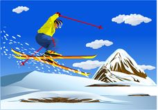 Alpine Skiing-illustrations royalty free stock images