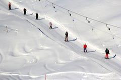Alpine skiing lift Royalty Free Stock Photos