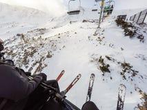 Alpine skiing Stock Image