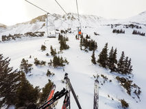 Alpine skiing Royalty Free Stock Photography