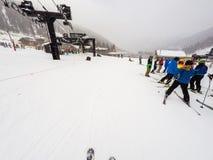 Alpine skiing Royalty Free Stock Photo