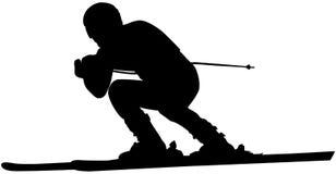 Alpine skiing male athlete stock illustration