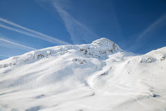 The Alpine skiing resort in Austria (St. Anton) Royalty Free Stock Photos