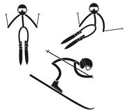Alpine skiing. Vector illustration (EPS 10 Stock Image