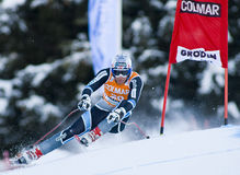 Alpine skiing world cup - Val Gardena downhill training Royalty Free Stock Photo