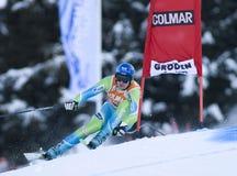Alpine skiing world cup - Val Gardena downhill training Royalty Free Stock Photos