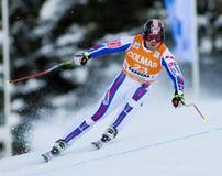 Alpine skiing world cup - Val Gardena downhill training Royalty Free Stock Photography