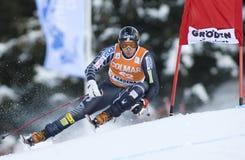 Alpine skiing world cup - Val Gardena downhill training Royalty Free Stock Image