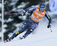 Alpine skiing world cup - Val Gardena downhill training Royalty Free Stock Images