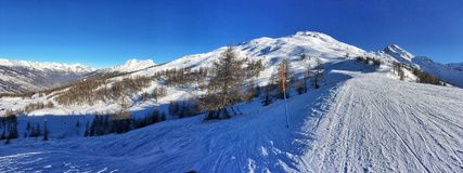 Alpine Skisteigung Lizenzfreies Stockfoto