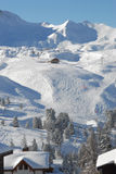 Alpine slopes landscape stock photos