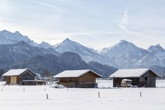 Alpine in the snow royalty free stock photography