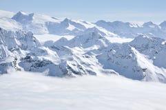 Alpine snow covered peak in the Alps Stock Images