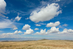 The alpine steppe in the mountains of central Asia Royalty Free Stock Image