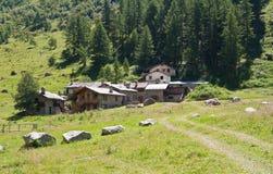 Alpine stone village Royalty Free Stock Photos