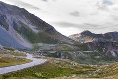 Alpine Straße in Österreich - Grossglocknerstrasse Stockfotografie