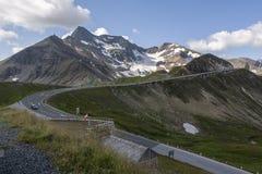Alpine Straße in Österreich - Grossglocknerstrasse Stockfoto
