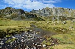 Alpine stream in the Atlantic Pyrenees, Bearn Royalty Free Stock Image