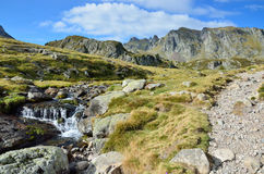 Alpine stream in the Atlantic Pyrenees, Bearn Royalty Free Stock Images